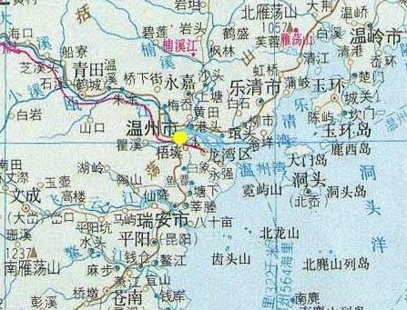 浙江温州地区地图